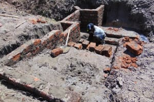The Water Project: Machemo Community, Boaz Mukulo Spring -  Brick Works