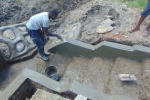 The Water Project: Machemo Community, Boaz Mukulo Spring -  Plasterwork