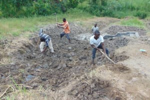 The Water Project: Machemo Community, Boaz Mukulo Spring -  Backfilling