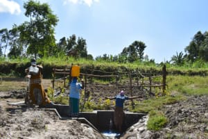 The Water Project: Machemo Community, Boaz Mukulo Spring -  Water Celebration
