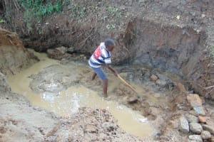 The Water Project: Kimang'eti Community, Kimang'eti Spring -  Excavation