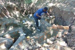 The Water Project: Kimang'eti Community, Kimang'eti Spring -  Walls Construction