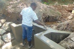 The Water Project: Kimang'eti Community, Kimang'eti Spring -  Plaster Works