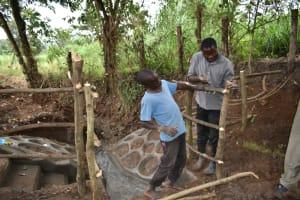 The Water Project: Kimang'eti Community, Kimang'eti Spring -  Fencing