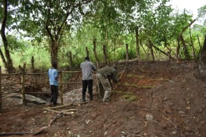 The Water Project: Kimang'eti Community, Kimang'eti Spring -  Fencing And Grass Planting