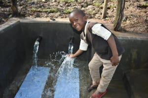 The Water Project: Kimang'eti Community, Kimang'eti Spring -  Enjoying Water