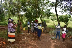 The Water Project: Kimang'eti Community, Kimang'eti Spring -  Handwashing Demonstration