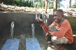 The Water Project: Kimang'eti Community, Kimang'eti Spring -  Lift Your Glass High