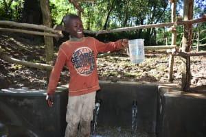The Water Project: Kimang'eti Community, Kimang'eti Spring -  Water Joy