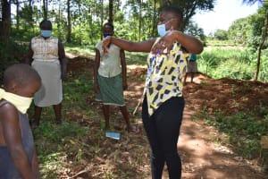 The Water Project: Kimang'eti Community, Kimang'eti Spring -  Air Drying Demonstration After Washing