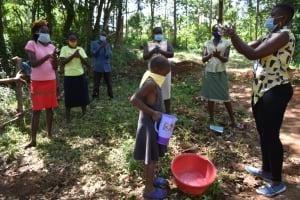 The Water Project: Kimang'eti Community, Kimang'eti Spring -  Demontration On Handwashing