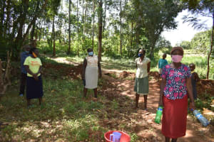 The Water Project: Kimang'eti Community, Kimang'eti Spring -  Participant Leaading S Training Activity