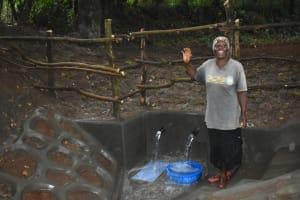 The Water Project: Kimang'eti Community, Kimang'eti Spring -  Posing At The Spring
