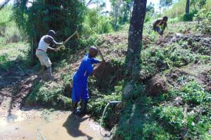 The Water Project: Mahira Community, Mukalama Spring -  Site Clearance