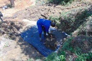The Water Project: Mahira Community, Mukalama Spring -  Slab Setting