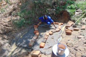 The Water Project: Mahira Community, Mukalama Spring -  Brick Setting
