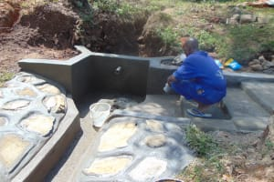 The Water Project: Mahira Community, Mukalama Spring -  Plaster Works