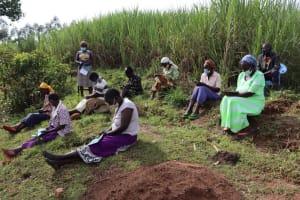The Water Project: Mahira Community, Mukalama Spring -  Community Health Volunteer Speaks At The Training