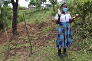 The Water Project: Mahira Community, Mukalama Spring -  Facilitator Insisting On Use Of Soap In Handwashing