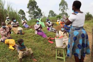 The Water Project: Mahira Community, Mukalama Spring -  Handwashing Demonstration
