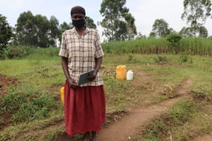The Water Project: Mahira Community, Mukalama Spring -  Margaret Mwanje