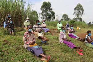 The Water Project: Mahira Community, Mukalama Spring -  Masks On