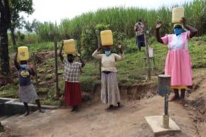 The Water Project: Mahira Community, Mukalama Spring -  Posing At The Spring