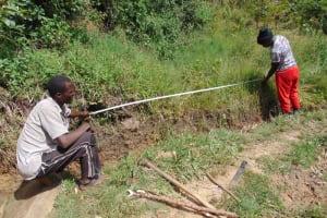 The Water Project: Mukhungula Community, Mulongo Spring -  Site Measurements