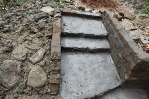 The Water Project: Mukhungula Community, Mulongo Spring -  Stairs Construction