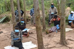 The Water Project: Mukhungula Community, Mulongo Spring -  Distancing And Masking At The Training