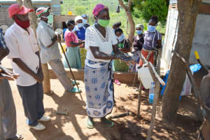 The Water Project: King'ethesyoni Community -  Handwashing Demonstration