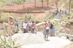 The Water Project: King'ethesyoni Community -  Construction Site