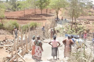 The Water Project: King'ethesyoni Community -  Dam Construction