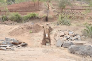 The Water Project: King'ethesyoni Community -  Dam Site Prep