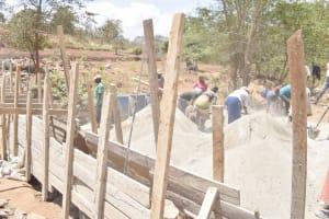 The Water Project: King'ethesyoni Community -  Dam Walls