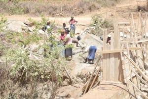 The Water Project: King'ethesyoni Community -  Woking On Dam Walls