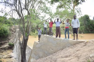 The Water Project: Yumbani Community -  Complete Dam