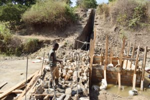 The Water Project: Yumbani Community -  Sand Dam Construction