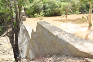 The Water Project: Yumbani Community -  View Of Completed Dam