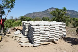 The Water Project: Yumbani Community A -  Cement Bags
