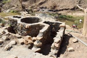 The Water Project: Yumbani Community A -  Well And Stairs Making Progress