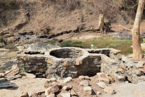 The Water Project: Yumbani Community A -  Well Walls Built Up