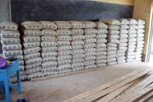 The Water Project: Mutwaathi Secondary School -  Cement Bags