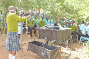 The Water Project: Mutwaathi Secondary School -  Handwashing At The Training
