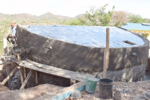 The Water Project: Mutwaathi Secondary School -  Plastering