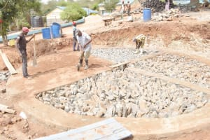 The Water Project: Mutwaathi Secondary School -  Tank Foundation