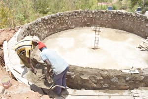 The Water Project: Mutwaathi Secondary School -  Wall Work