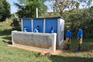 The Water Project: Ibokolo Primary School -  Boys Newer Latrine Block