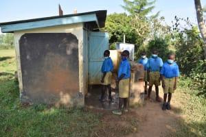 The Water Project: Ibokolo Primary School -  Boys Older Latrine Block