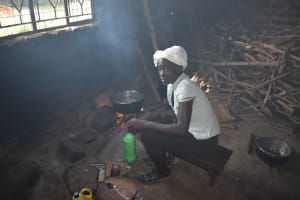 The Water Project: Ibokolo Primary School -  Josephine At Work Cooking For School
